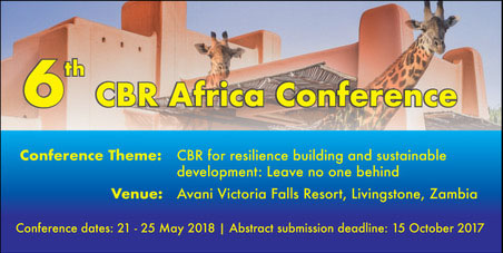 THE 6TH CBR AFRICA CONFERENCE ZAMBIA 2018